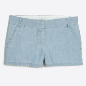 🌼J. Crew🌼 3in chambray shorts size 4